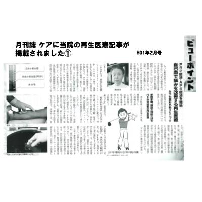 月刊誌ケア2019年2月号
